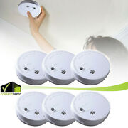 Smoke Alarm Detector Ionization Sensor Fire Safety Pack Battery Operated Home