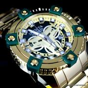 Grand Octane Coalition Forces Gold Plated Swiss Mvt Green 63mm Watch New