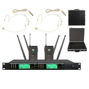 Wireless Microphone System For Shure Microphone Headset Mic Uhf True Diversity