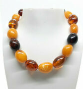 77 Grams Natural Antique Yellow Butterscotch Baltic Amber Necklace .