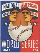 1945 Chicago Cubs World Series Ticket Stub With Two Scored Programs For Game 6
