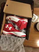Size 10 Red Under Armor Ignite Mid St Cc Baseball Cleats