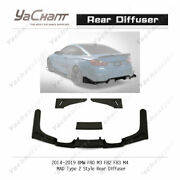 Carbon Bottom Lip For 14-19 Bmw F80 M3 F82 F83 M4 Mad-type2-style Rear Diffuser