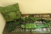 Military Ww2 Jungle Ammo Double Pouches Belt Holster Green Webbing Bag 5326