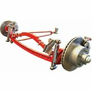 Rhd 1933-1934 Ford Deluxe Four Link Drilled Solid Axle Kit 5x4.5 Model A Rat Rod