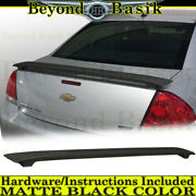 2006-2013 Chevy Impala Ss Factory Style Spoiler Abs Matte Black Trunk Wing