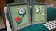 Chinese Original Pair Of Watercolours On Rice Paper Signed With Red Sealandnbsp