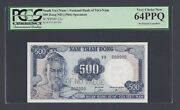 South Vietnam 500 Dong Nd1966 P23s Specimen Perforated Uncirculated