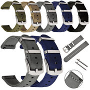 18/20/22/24 Mm Quick Release Durable Nylon Canvas Metal Buckle Watch Band Strap