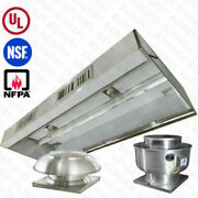 4and039 Ft Ul Restaurant Commercial Kitchen Makeup Air Hood Captiveaire System