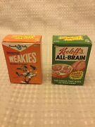 Topps Wacky Packages Series 7 Cereal Boxes Set Of 2 Weakies Kooloffandrsquos All-brain