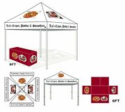 10x10 Custom Graphics Logo Printed Ez Pop Up Canopy Party Tent W/6ft Table Cover
