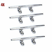 4pcs 8 Inch Stainless Marine Deck Dock Open Base Cleats Boat Mooring Accessories