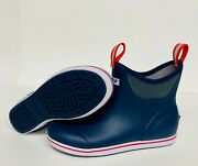 New Menand039s 22733 Xtratuf 6 Full Rubber Ankle Deck Boot Navy/red Fishing Boots