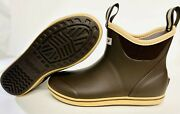 New Menand039s 22734 Xtratuf 6 Full Rubber Ankle Deck Boot Choc/tan Fishing Boots