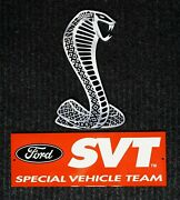 Mustang Cobra Snake And Ford Svt Banner Large Metal Signs