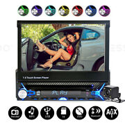7 Car Dvd Cd Player Flip Out Fm/am Usb Sd Mp5 Touch Screen Single Din + Camera