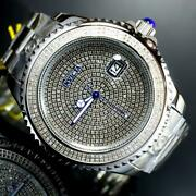 Grand Diver 2.67ctw Diamond Automatic Stainless Steel 47mm Anniv Edt New