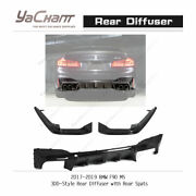 Carbon Kit Fit For 2017-2019 Bmw F90 M5 3dd-style Rear Diffuser W/ Rear Spat