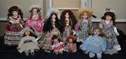 Vintage Classic Porcelain Dolls Mixed Lot Old Dolls Collectible Victorian