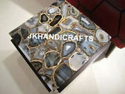 Square 36 Marble Coffee Corner Table Top Natural Agate Luxury Christmas Gifts