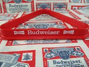 New Vtg 1980and039s Budweiser Beer Pool Balls Table Rack Bar Sign No Motion Light Wow