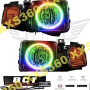 Oracle Halo 2x Headlights For Hummer H3 06-10 Colorshift Bc1 Bluetooth Smd/led
