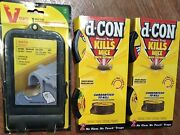 3 Lot Mouse D-con Kills Mice Traps Simple Safe Clean Victor Guaranteed Catch New