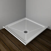 Sunny Shower Acrylic Shower Base 36 X 36 X 3 Inch With Shower Drain,white Color