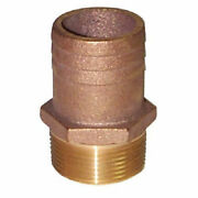 Groco Ff-1250 Boat Marine Bronze 1-1/4 Full Flow Pipe To 1-1/2 Hose Adapter
