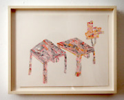 Julian Pozzi-untitled 2002-3 Ink And Watercolor On Paper 11x14and039 Framed
