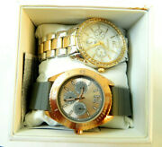 2 Watches Geneva And Fmdjps038 Rose Gold Tone Stainless Steel New