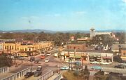 C1972 Newtonville Mass Street Scene Stores Signs Cars Old Vintage Postcard A24