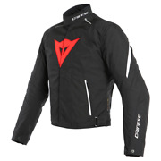 Jacket Motorcycle Dainese Laguna Seca 3 Dry Black Lava Red White A77 Size 46