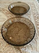 Vintage Pyrex Fluted Baking Glass Pie Plates With Scalloped Handles 229