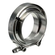 Stainless Steel V Band Flat Flange Clamp Kit Assembly-3 Inch Inner 76mm And L8