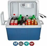 Electric Cooler Warmer Wheels Car Home Hot And Cold Food Storage 48 Qt 45 Liter