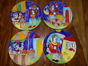 4 The Cellar Handpainted Pottery Salad Plates Market Place Italy 1995 2