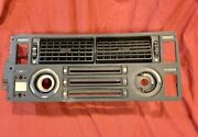 Bmw E24 Heater Control A/c Face Plate Trim With Grill