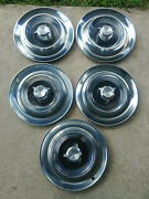 1957 Chrysler Imperial 14 Inch Set Of 5 Hubcaps Wheel Covers Crown Coupe Hemi