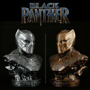 Captain America Civil War 1/2 Black Panther Bust Statue Resin Figure Toy Collect