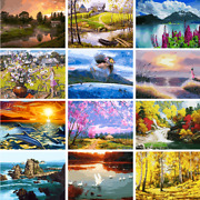 Scenery Tower Diy Paint By Number Kit Digital Oil Painting Art Wall Home Decor