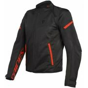 Men's Jacket Dainese Bora Air Tex Black Red Size 46 Motorcycle Perforated Summer