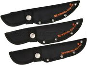 Knife Sheath Pouch Case Fixed Straight Blade Snap Belt Loop Nylon Black Marbleand039s