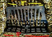 Fire Box Fire Grate Vintage Cast Iron Fire Place Rare Front Fret Arrow Old Grill