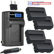 Kastar Battery Lcd Ac Charger For Sony Np-fm500h And A700 Dslr-a700b Dslr-a700k