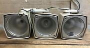 3 Vintage Crouse Hinds Targeteer Clear Iq Lamps Cat. No. Lcq-2 - Parts Or Repair