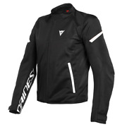 Men's Jacket Dainese Bora Air Tex Black White Size 46 Motorcycle Perforated Stat