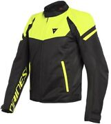 Jacket Man Dainese Bora Air Tex Black Yellow Fluo Size 46 Moto Perforated Summer