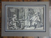Gluttonous Couplehans Holbein/joos Van Winghe16th Century Old Master Engraving